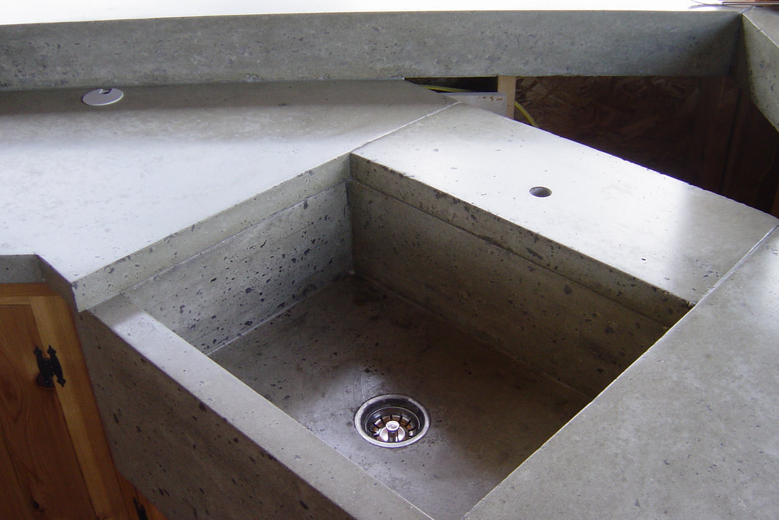 Cement Kitchen Sink Concrete Farm Sink Kitchen