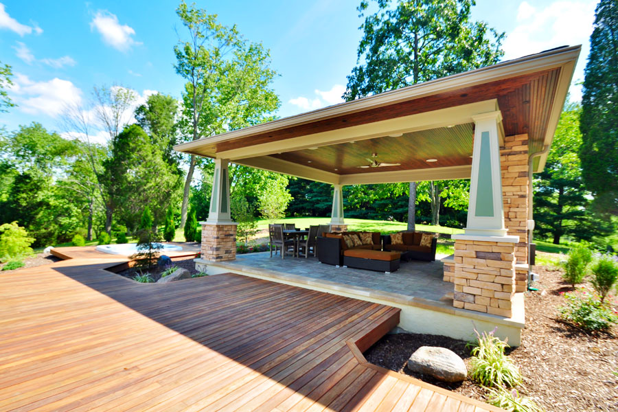 Pros and cons of different deck porch and patio materials - Covered outdoor living spaces ...