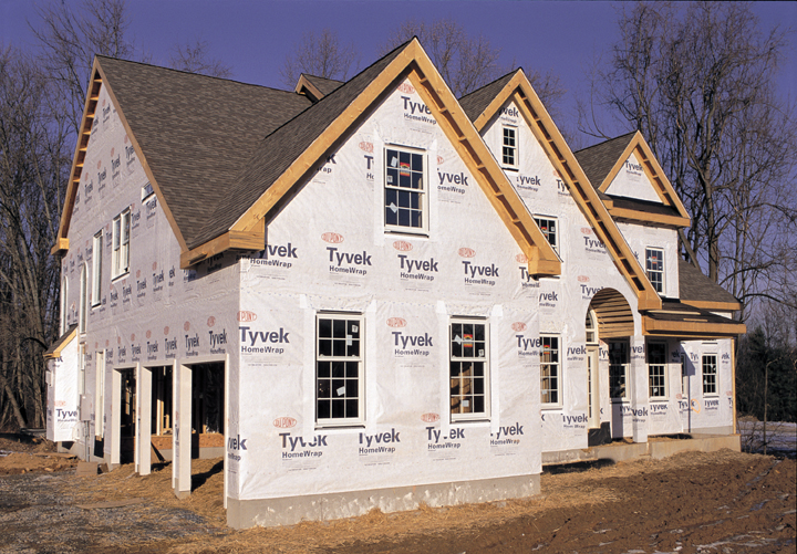 Save money energy and time by building a tight house for Sheathing house wrap